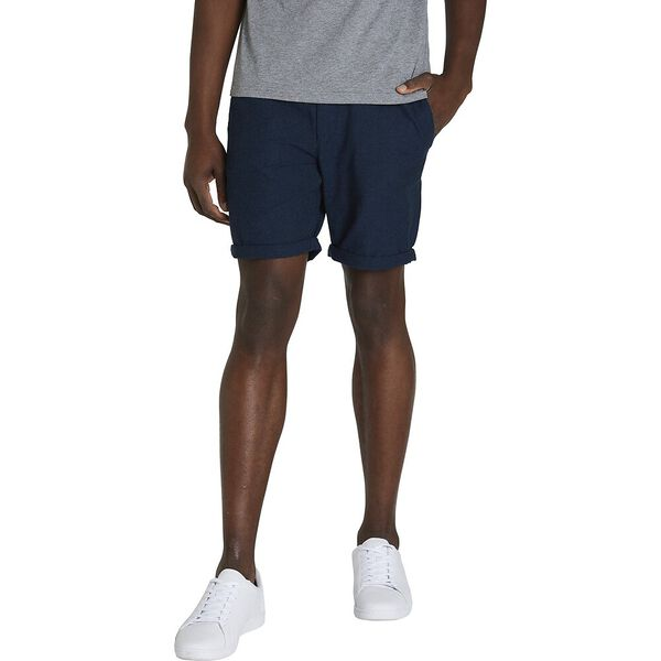 LINEN BLEND PLEAT FRONT SHORT