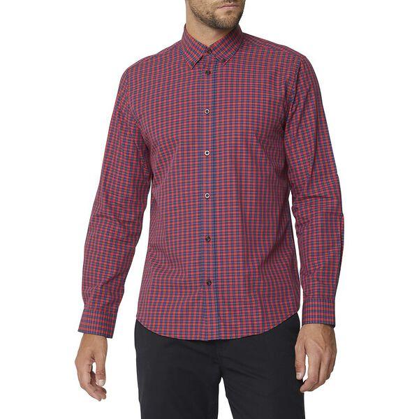 Ls Mod Multi Check Shirt Red