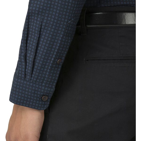 Herringbone Polka Shirt, DARK NAVY, hi-res