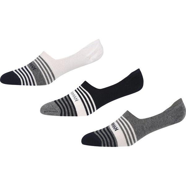 ST SIMON 3PK LOW CUT SOCKS WHITE/GREY MA