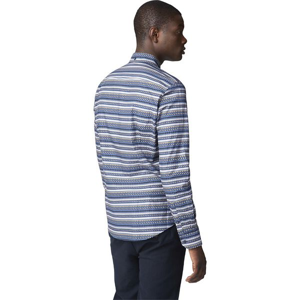 Ls Fairisle Inspired Shirt Dark Blue, DARK BLUE, hi-res