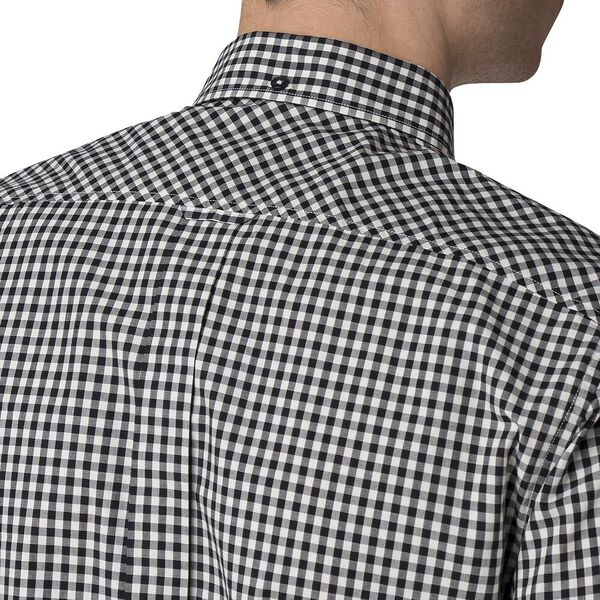 Gingham Shirt, BARELY BLACK, hi-res