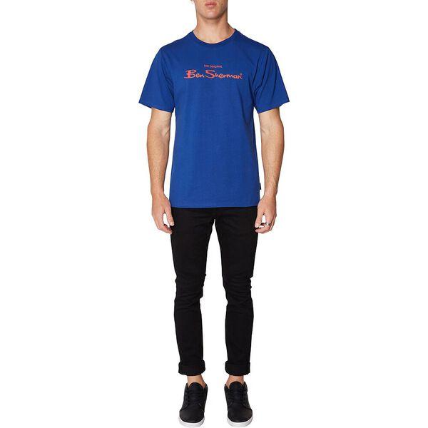 LOGO COLOUR BLOCK TEE ROYAL BLUE, ROYAL BLUE, hi-res