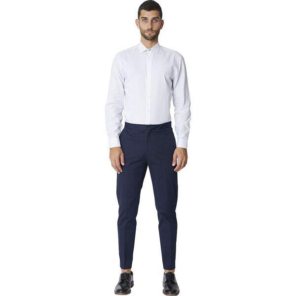 Ls Formal Kings Square Print Shirt White