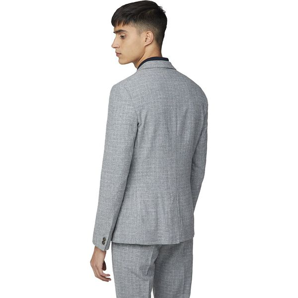 SHADOW CHECK TAIL TROUSER, LIGHT GREY, hi-res
