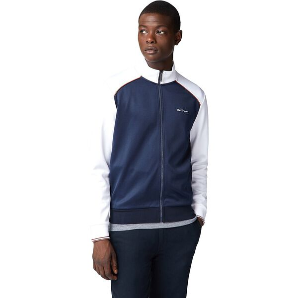Panelling Tricot Track Top White, WHITE, hi-res