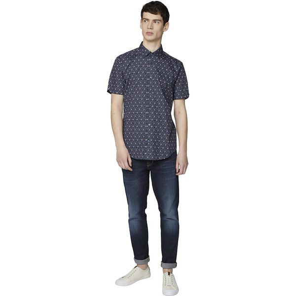 Digi Print Shirt, DARK NAVY, hi-res