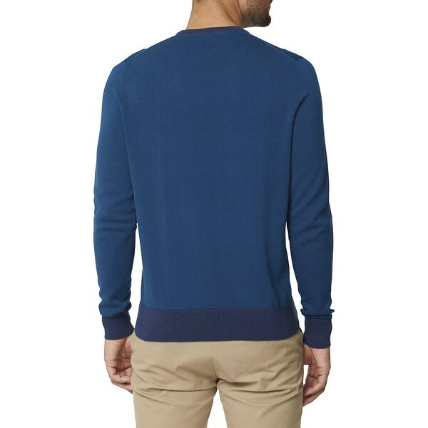 Crew Neck With Contrast Cuff Lake Blue, LAKE BLUE, hi-res