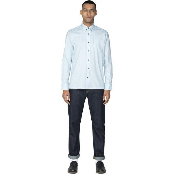 Ls Nep Marl Plain Shirt Wedgewood, WEDGEWOOD, hi-res