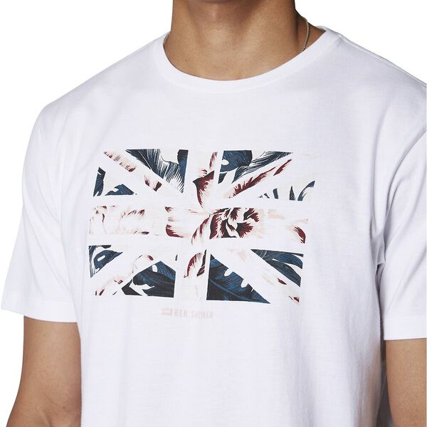 Floral Union Jack T-Shirt, WHITE, hi-res