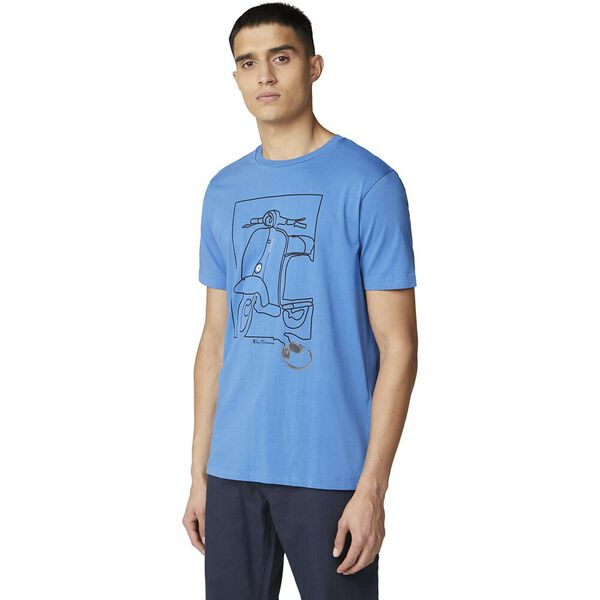 CORD TEE ROYAL BLUE, ROYAL BLUE, hi-res
