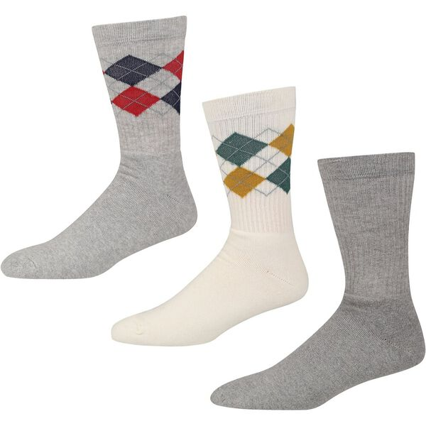 ECLIPSE 3PK SPORT SOCKS TE/DARK GREY MAR
