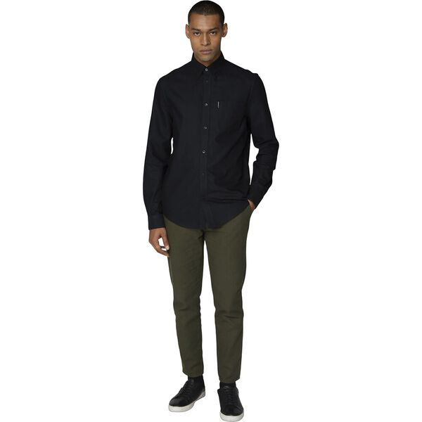 OXFORD SHIRT, BARELY BLACK, hi-res