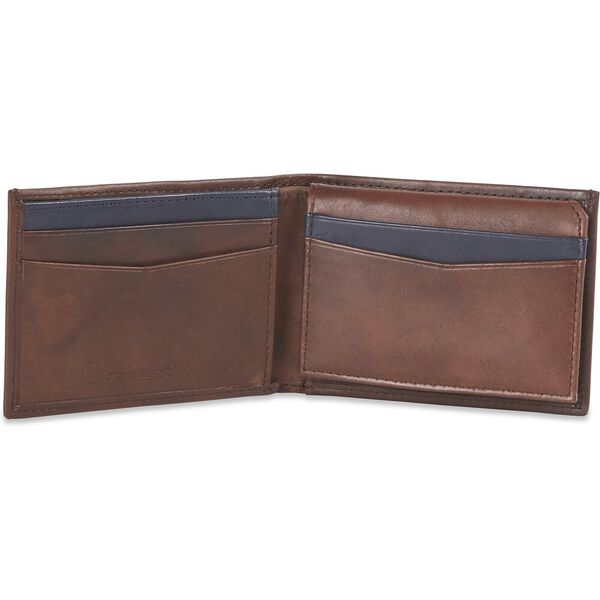 SILM L-FOLD WALLET, TAN/NAVY, hi-res