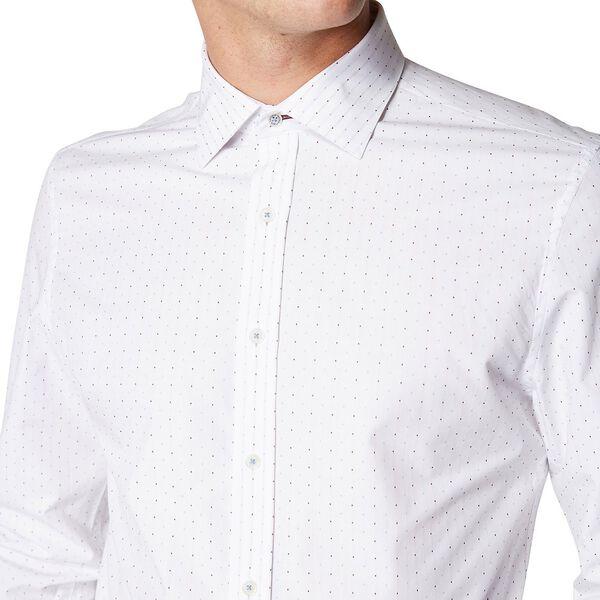 Formal Square Dot Dobby Kings Shirt, BURGUNDY, hi-res