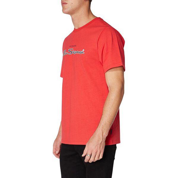 LOGO COLOUR BLOCK TEE, RED, hi-res