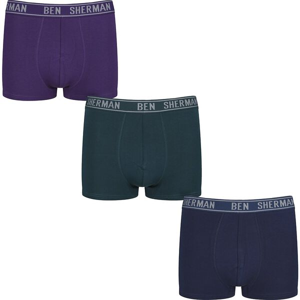 Benjamin 3Pk Trunks Crown Jewel/Sea Moss/Blue