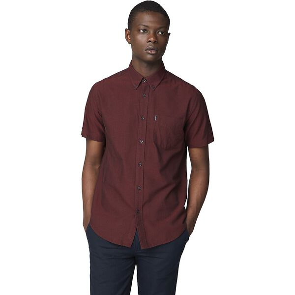 SS OXFORD SHIRT BROWN