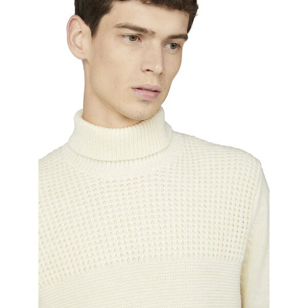 TEXTURED ROLL NECK KNIT, IVORY, hi-res