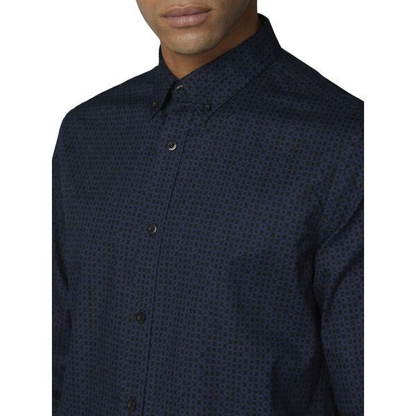Ls Optic Spot Print Shirt Dark Navy, DARK NAVY, hi-res