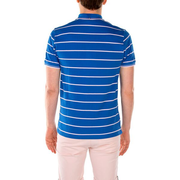Stripe Pocket Pique Polo, ROYAL BLUE, hi-res