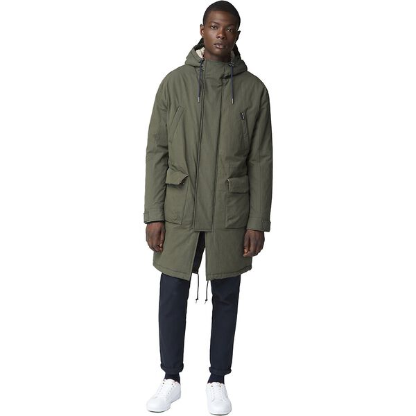 FISHTAIL PARKA DARK GREEN