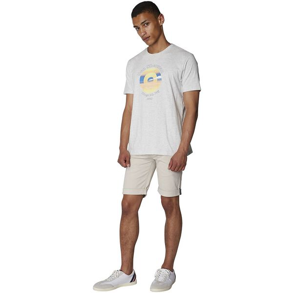 SUNSET TARGET TEE OFF WHITE