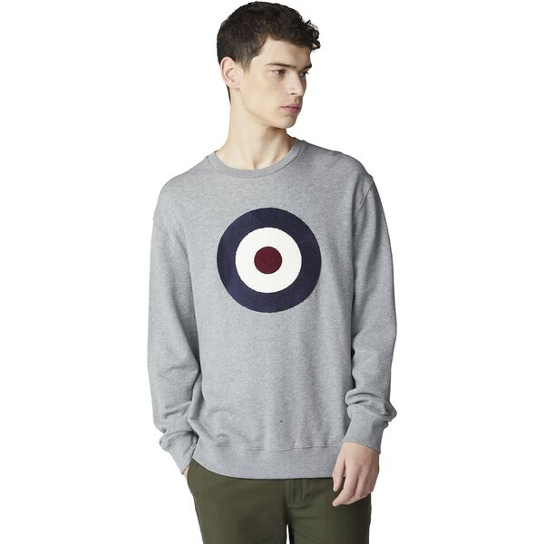 APPLIQUE TARGET SWEAT, GREY, hi-res