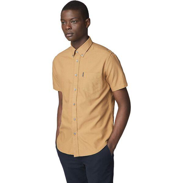 Ss Oxford Shirt Camel