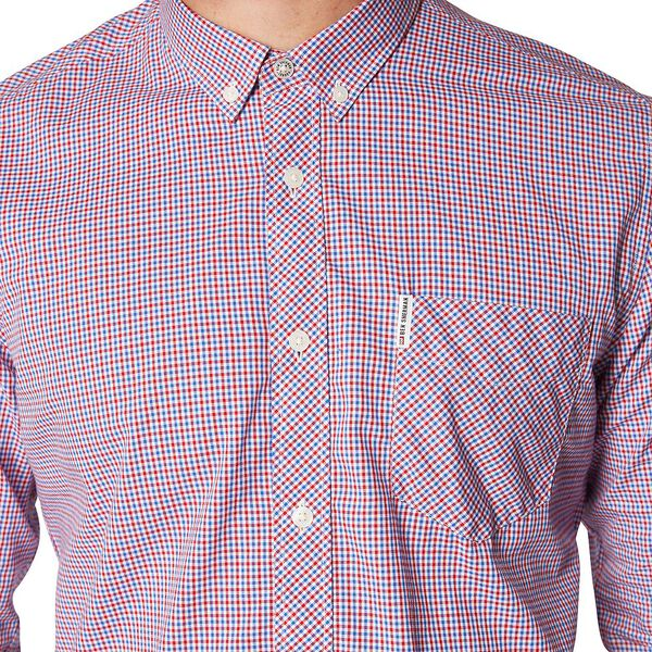 MINI HOUSE GINGHAM SHIRT, RED, hi-res