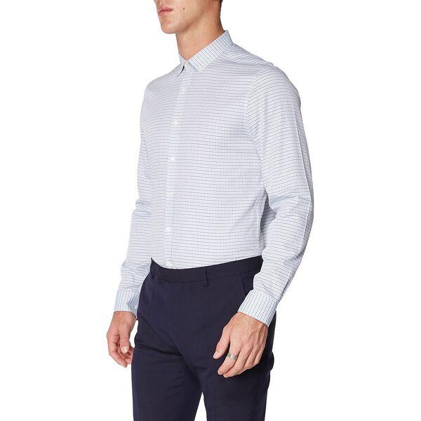 Formal Double Stripe Check Kings Shirt, LILAC, hi-res