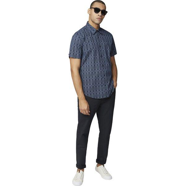 Retro Print Shirt, DARK NAVY, hi-res