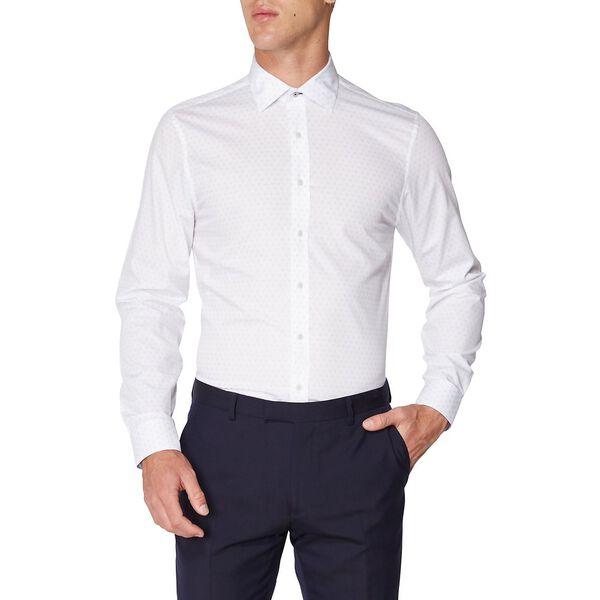 Formal Micro Print Kings Shirt, PALE BLUE, hi-res