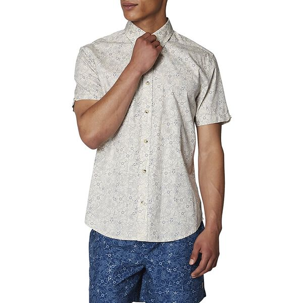 Retro Floral Shirt, OFF WHITE, hi-res