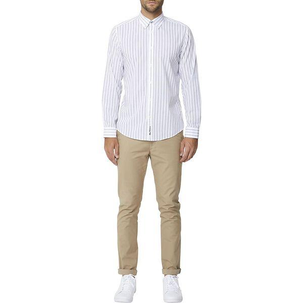 Multi Stripe Mod Ls Shirt White, WHITE, hi-res