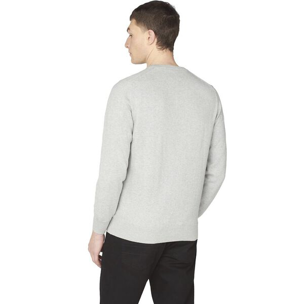 SIGNATURE KNITTED CREW NECK KNIT, STEEL, hi-res