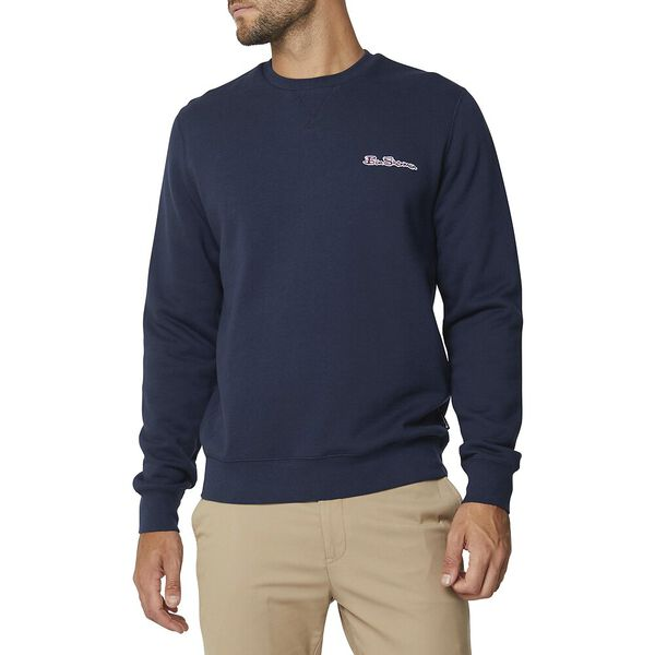 Script Basic Logo Sweat Dark Navy, DARK NAVY, hi-res