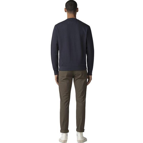 Flocked Rose Emblem Sweater, DARK NAVY, hi-res