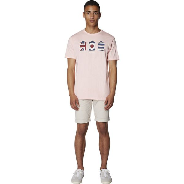 3 HUTS GRAPHIC T-SHIRT, DUSTY PINK, hi-res