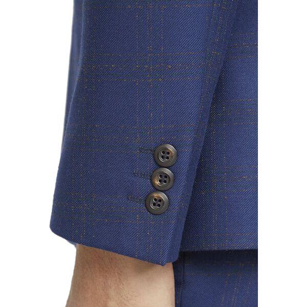BLUE ORANGE CHECK SLIM JACKET, BLUE, hi-res