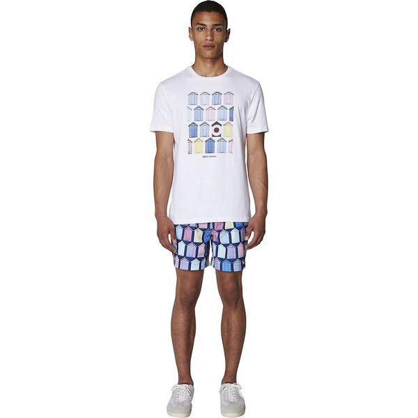 Beach Hut T-Shirt, WHITE, hi-res