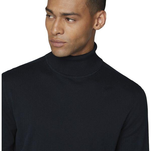 COTTON ROLL NECK, BLACK, hi-res