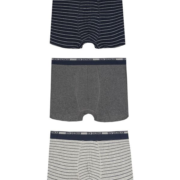 Jayden 3Pk Trunks Navy/Charcoal/Grey