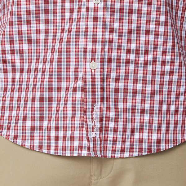 GINGHAM CHECK MOD LS SHIRT RED, RED, hi-res