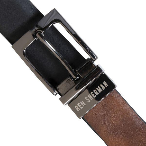 Reversible Pin Buckle Belt, TAN/BLACK, hi-res