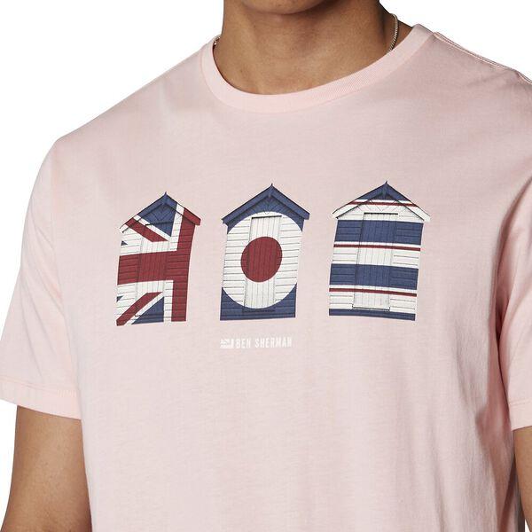 3 Huts Graphic T-Shirt, DUSTY PINK, hi-res