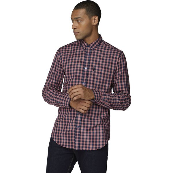 Ls Basket View Gingham Shirt Red