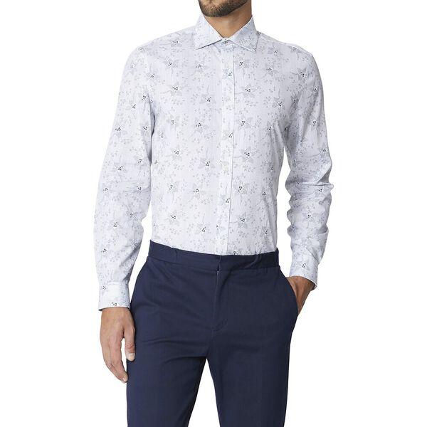 Ls Formal Kings Pin Dot Floral Shirt Dar