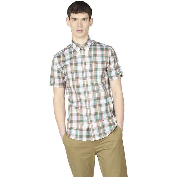LINEAR CHECK SHIRT, , hi-res