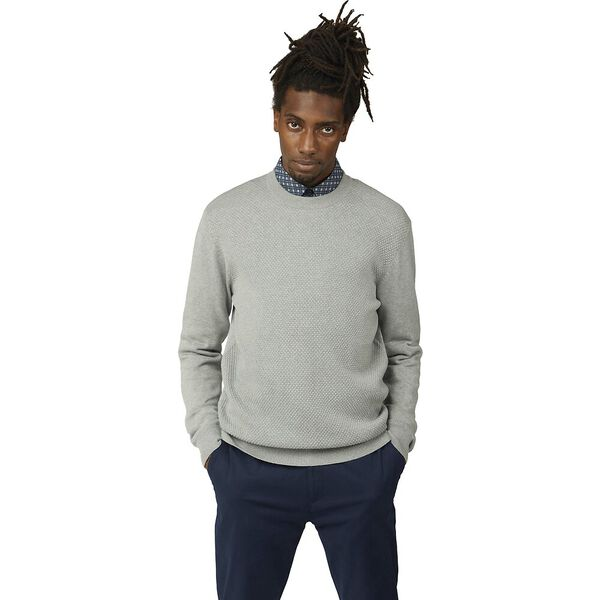 TEXTURED FRONT CREW KNIT